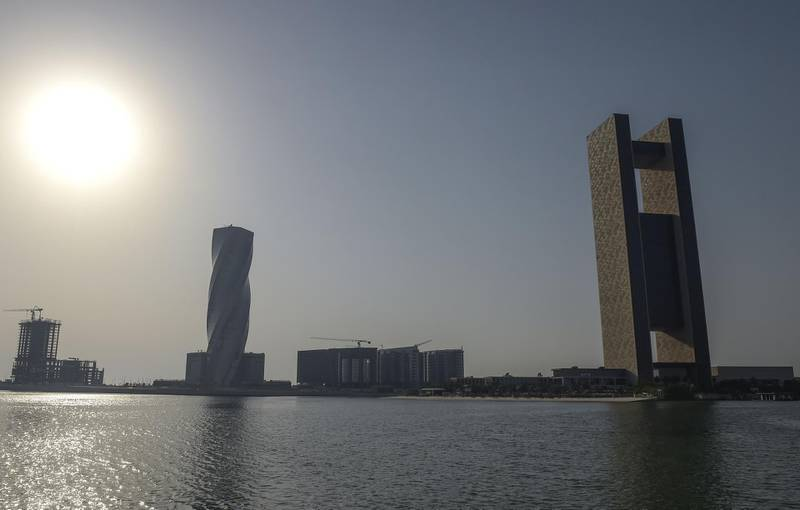 """This picture taken on June 25, 2019 shows a general view of the Four Seasons Hotel (R) in the Bahraini capital Manama, where the """"Peace to Prosperity"""" workshop is taking place.  Co-host the United States is holding out the prospect of $50 billion of investment to the Palestinians and their neighbours, but the Palestinian Authority is boycotting the conference, believing that the United States and Israel are trying to buy them off and impose political solutions.  / AFP / STR"""