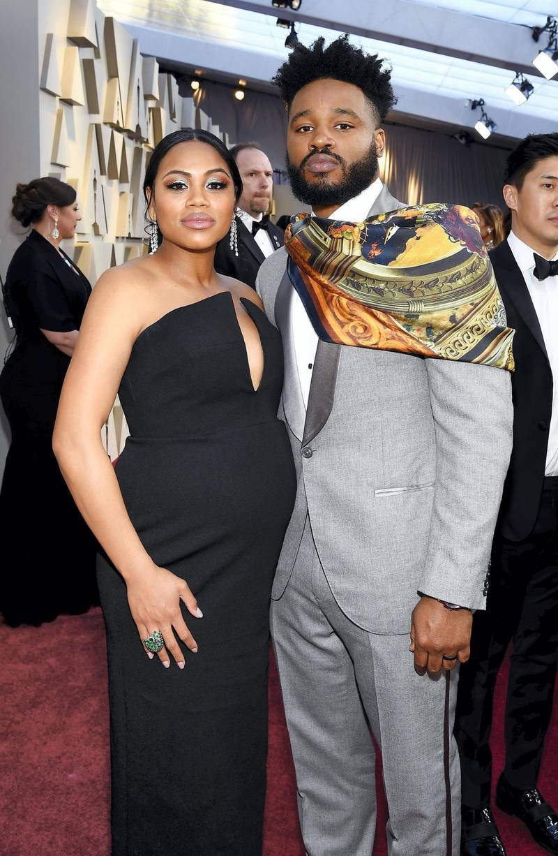 HOLLYWOOD, CALIFORNIA - FEBRUARY 24: (L-R) Zinzi Evans and director Ryan Coogler attend the 91st Annual Academy Awards at Hollywood and Highland on February 24, 2019 in Hollywood, California. (Photo by Kevork Djansezian/Getty Images)