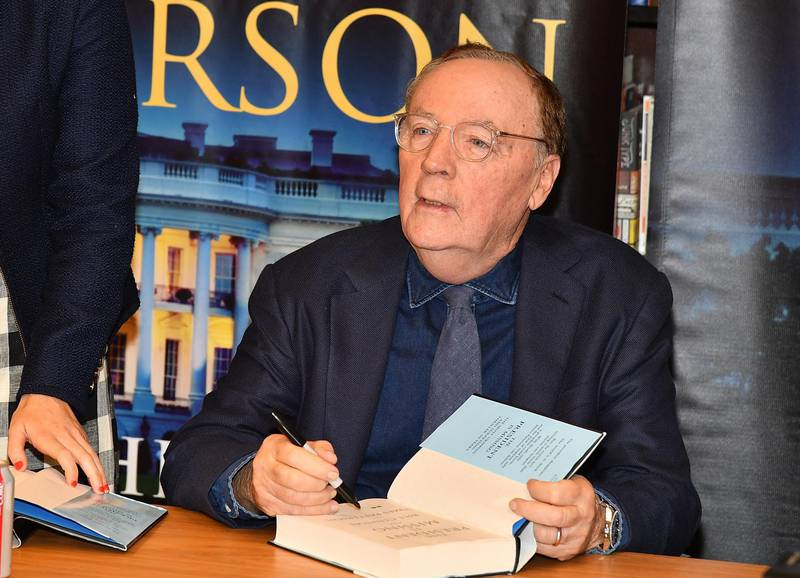 """NEW YORK, NY - JUNE 05: James Patterson signs copies of his new book co-writed with Bill Clinton """"The President Is Missing"""" at Barnes & Noble, 5th Avenue on June 5, 2018 in New York City.   Slaven Vlasic/Getty Images/AFP"""