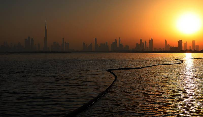 Dubai, 12, June, 2017:  View of the Dubai Skyline from the Dubai Creek Harbour  in Dubai.  ( Satish Kumar / The National )  ID No: 79713 Section: News/ Standalone *** Local Caption ***  SK-CreekHarbour-12062017-07.jpg