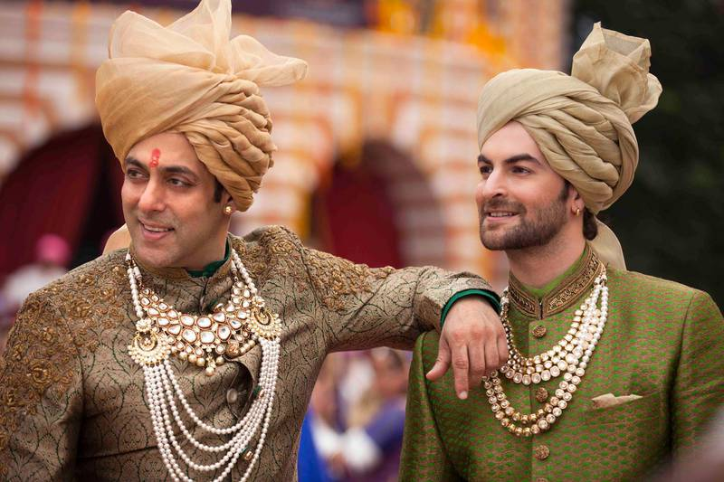 """A handout movie still of """"Prem Ratan Dhan Payo"""" showing  Salman Khan and Neil Nitin Mukesh (Bhadauria Brothers Pictures / Fox Star India) *** Local Caption ***  PRDP-movie18.jpeg"""