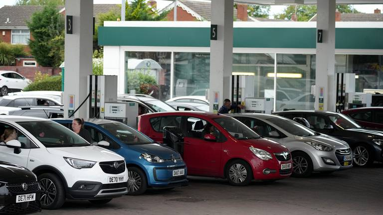 An image that illustrates this article UK panic buying could see 'people go without fuel'