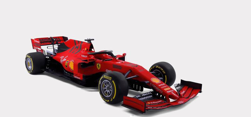 epa07371865 A handout photo made available by the Ferrari press office on 15 February 2019 shows the Ferrari single-seater. The SF90, the first car of the John Elkann presidency, is dedicated to Ferrari's 90-year history.  EPA/FERRARI PRESS OFFICE / HANDOUT  HANDOUT EDITORIAL USE ONLY/NO SALES