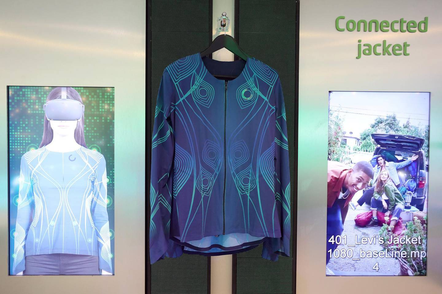 Dubai, United Arab Emirates - December 06, 2020: The connected jacket during GITEX 2020 at the World Trade Centre. December 6th, 2020 in Dubai. Chris Whiteoak / The National
