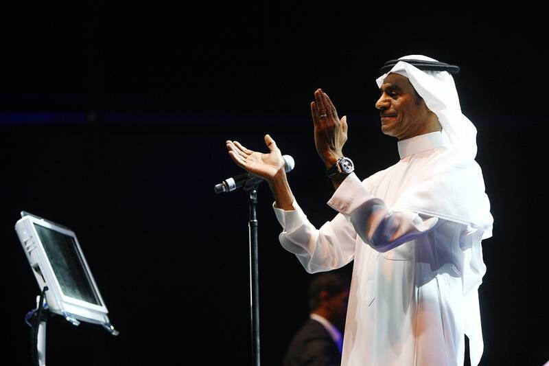 AbuDhabi, United Arab Emirates- August, 10, 2013: Saudi Arabian  Singer Rabeh Saqer performs during the Summerfest  Music event at the Yas Island in Abudhbai. ( Satish Kumar / The National ) For News/ Arts & Life/ Story by Saeed Saeed *** Local Caption ***  SK100-Rabeh Saqer-02.jpg