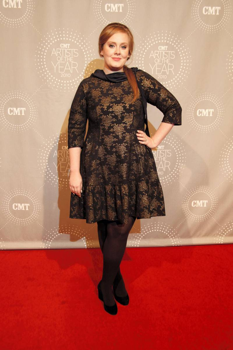 FRANKLIN, TN - NOVEMBER 30: Adele attends CMT Artists of the Year at Liberty Hall on November 30, 2010 in Franklin, Tennessee. (Photo by Ed Rode/Getty Images)