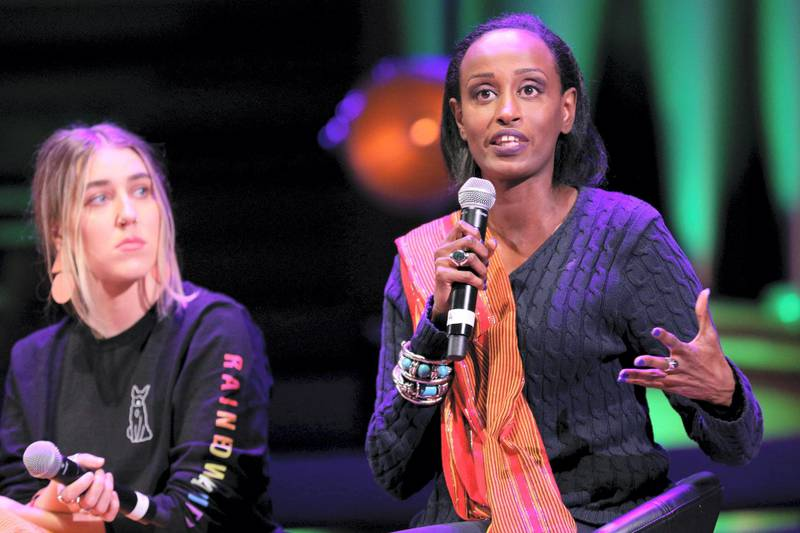 RTYWHW London, UK, 3rd Mar 2019.  Anti-FGM campaigner Leyla Hussein. March4Women is CARE International?s annual month of action for gender equality. This year?s London event is held at Central Hall, rather than as an outdoor rally, and features speeches, debate and musical performances from celebrity supporters. Credit: Imageplotter/Alamy Live News