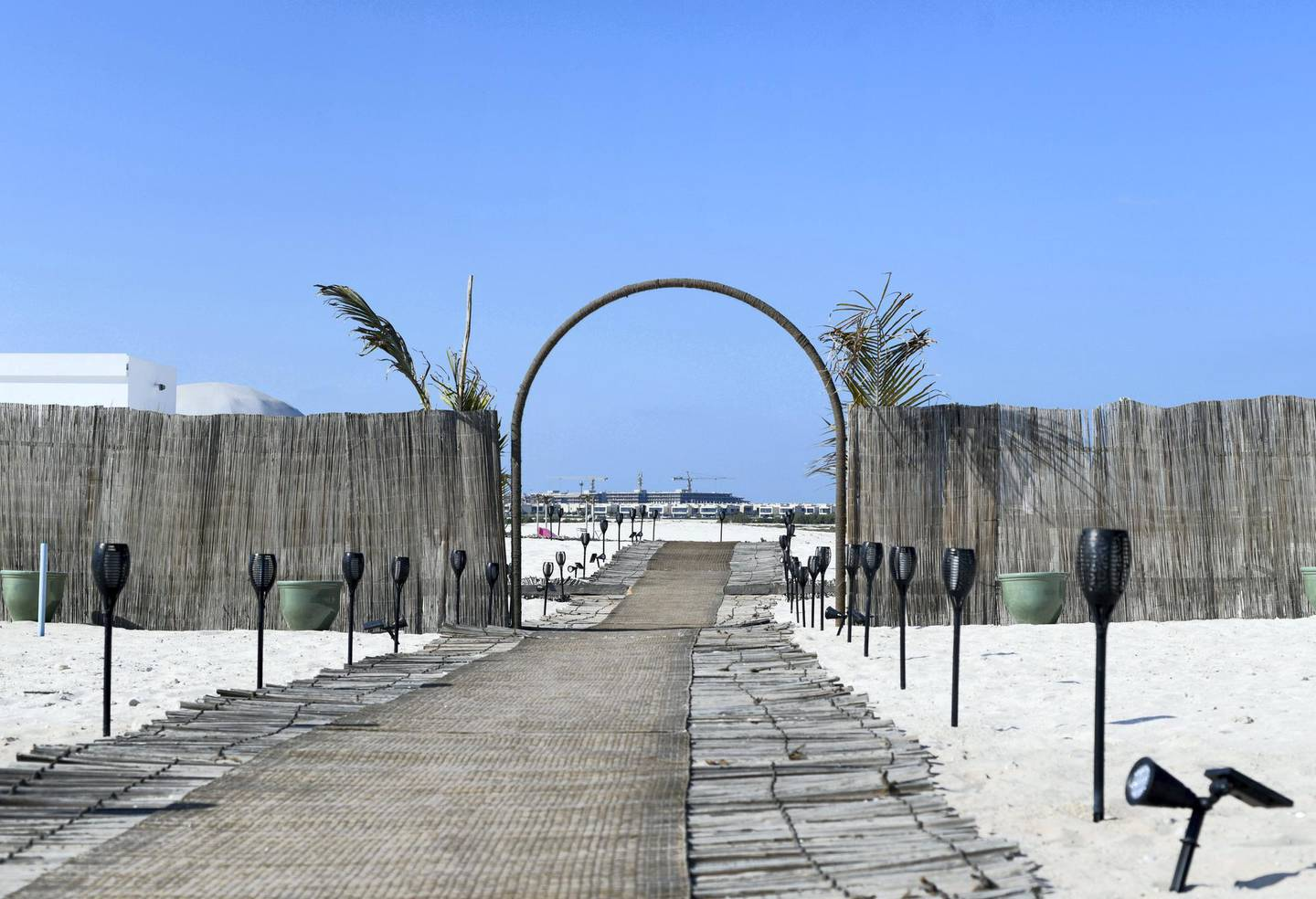 Abu Dhabi, United Arab Emirates - Pure Eco Retreat is an ideal getaway for adults to relax and rejuvenate, tucked away on Jubail Island in the heart of Abu Dhabi city. Khushnum Bhandari for The National