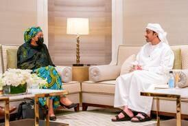 Sheikh Abdullah bin Zayed meets UN Deputy Secretary-General at Expo 2020