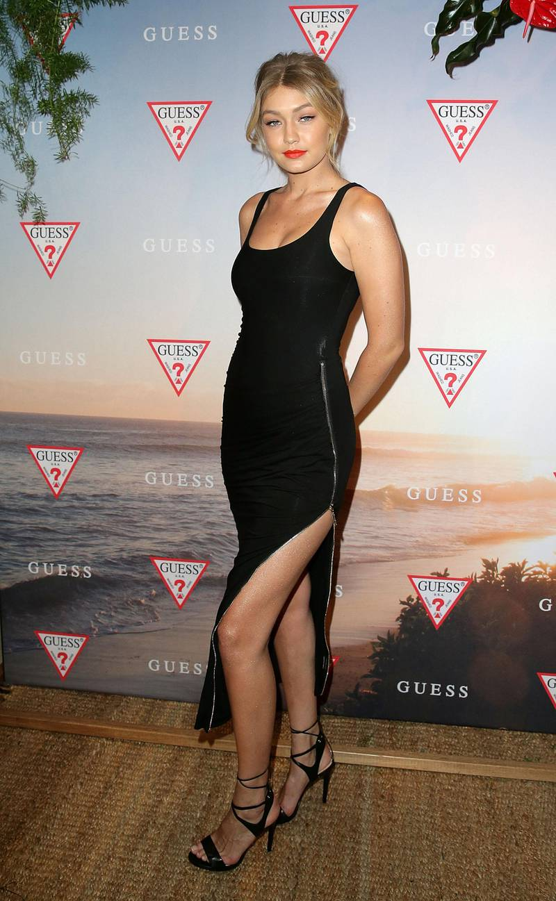 SYDNEY, AUSTRALIA - AUGUST 04:  Gigi Hadid poses at the launch of the Guess Spring 2015 Collection at The Butler in Potts Point on August 4, 2015 in Sydney, Australia.  (Photo by Mark Metcalfe/Getty Images)