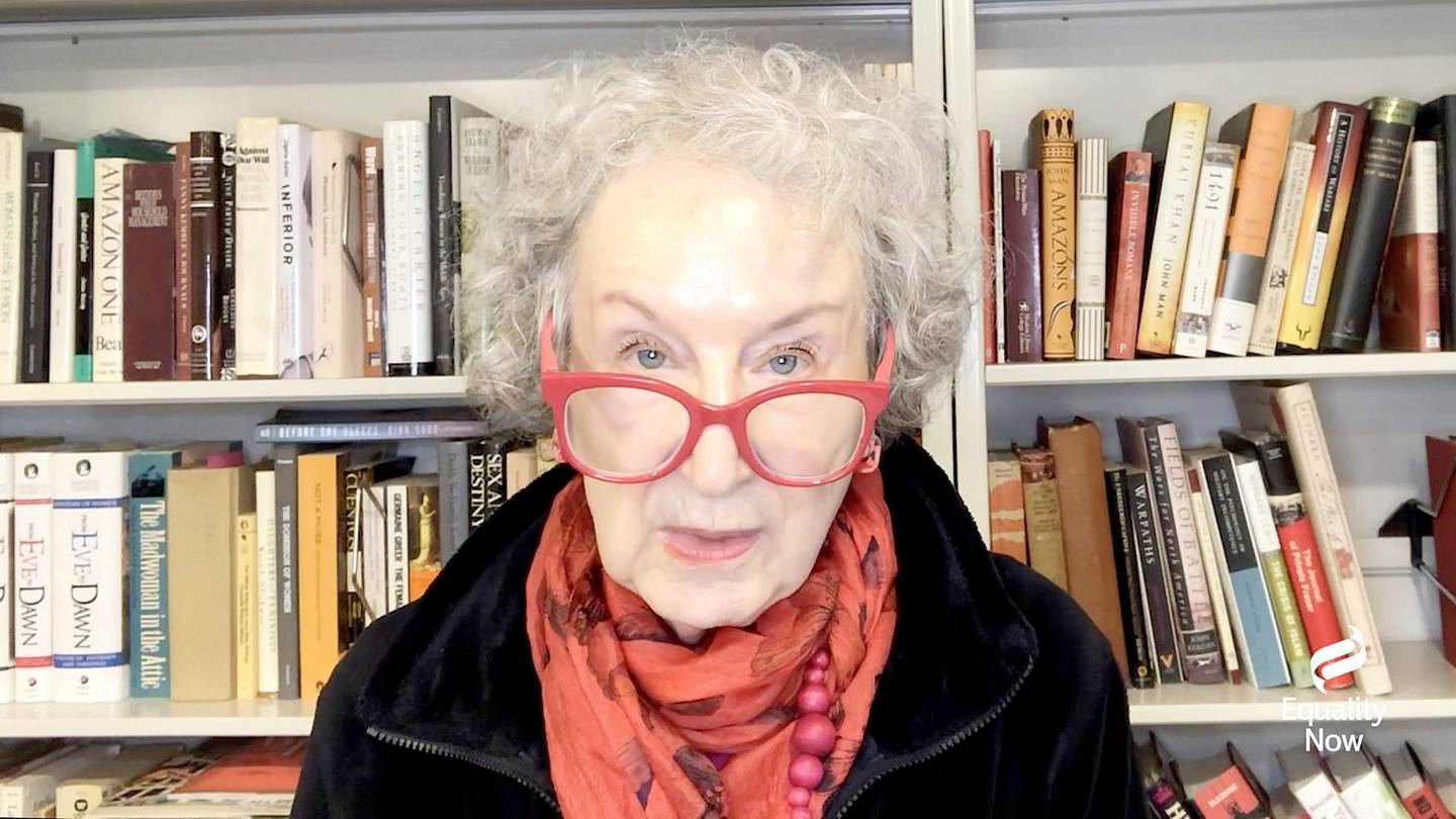 UNSPECIFIED - DECEMBER 03: Margaret Atwood speaks during Equality Now's Virtual Make Equality Reality Gala on December 03, 2020 in UNSPECIFIED, United States.   Getty Images/Getty Images for Equality Now/AFP