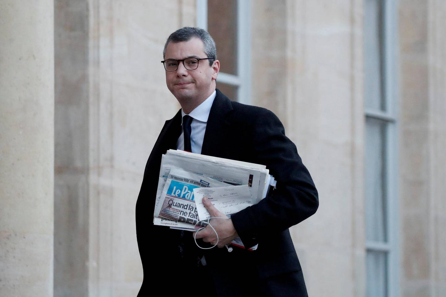 FILE PHOTO: French general secretary of the presidency Alexis Kohler arrives at the Elysee Palace to attend the first weekly cabinet meeting of the year in Paris, France, January 3, 2018. Picture taken January 3, 2018.   REUTERS/Benoit Tessier/File Photo