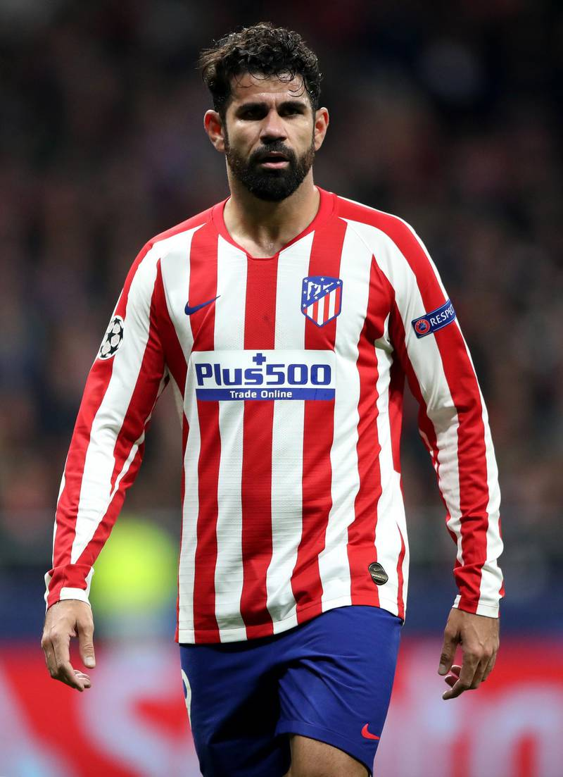 File photo dated 18-02-2020 of Atletico Madrid's Diego Costa. PA Photo. Issue date: Tuesday December 29, 2020. Atletico Madrid have announced they have agreed to terminate Diego Costa's contract due to personal reasons. See PA story SOCCER Atletico Madrid. Photo credit should read Nick Potts/PA Wire.