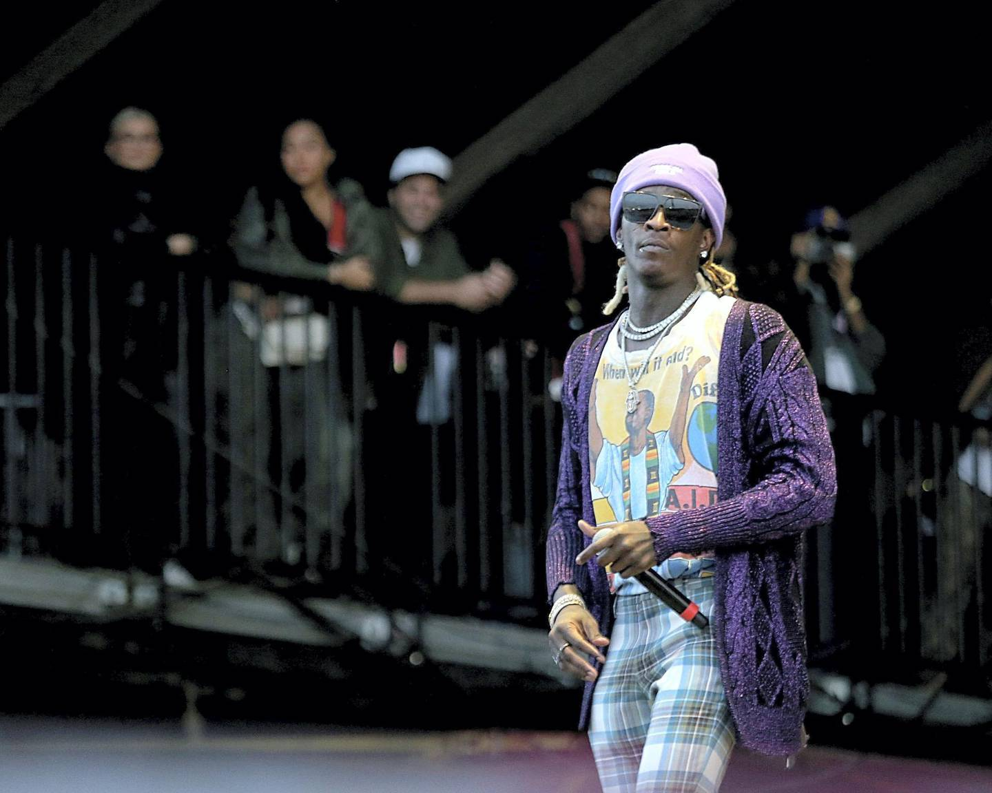 HOUSTON, TEXAS - NOVEMBER 17:  Young Thug performs in concert during the inaugural Astroworld Festival at NRG Park on November 17, 2018 in Houston, Texas.  (Photo by Gary Miller/Getty Images)