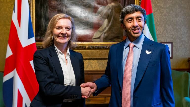 An image that illustrates this article Sheikh Abdullah bin Zayed meets UK foreign secretary in London