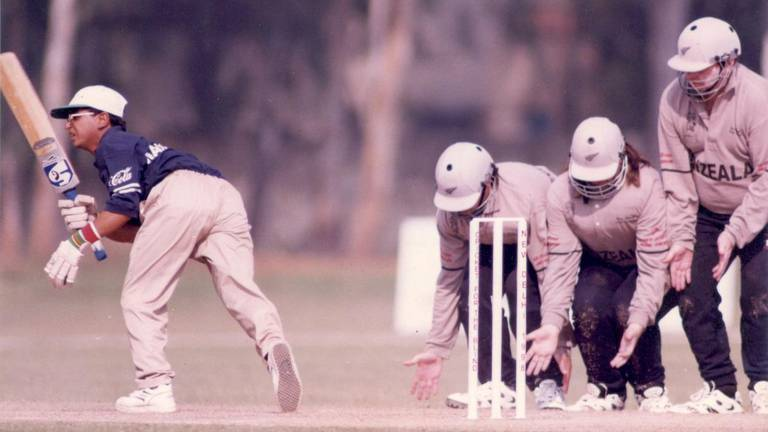 An image that illustrates this article Blind cricket - in pictures