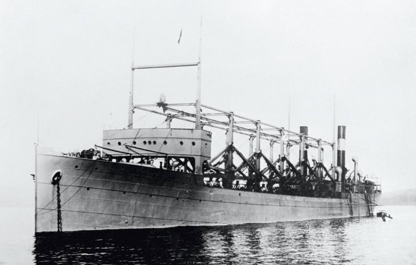 (Original Caption) 9/8/1939-New York- The United States Navy collier Cyclops, which disappeared during the war year of 1918. The ship disappeared as it brought a cargo of manganese from Brazil. To this day, no trace of the Cyclops has been found.
