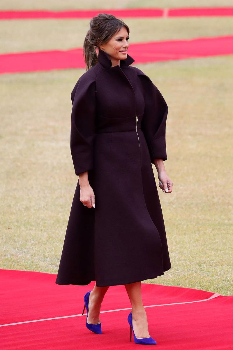SEOUL, SOUTH KOREA - NOVEMBER 07:  (EDITOR'S NOTE: Retransmission with alternate crop of # 871107964 ) U.S. First Lady Melania Trump during a welcoming ceremony held at the presidential Blue House on November 7, 2017 in Seoul, South Korea. Trump is in South Korea as a part of his Asian tour.  (Photo by Chung Sung-Jun/Getty Images)