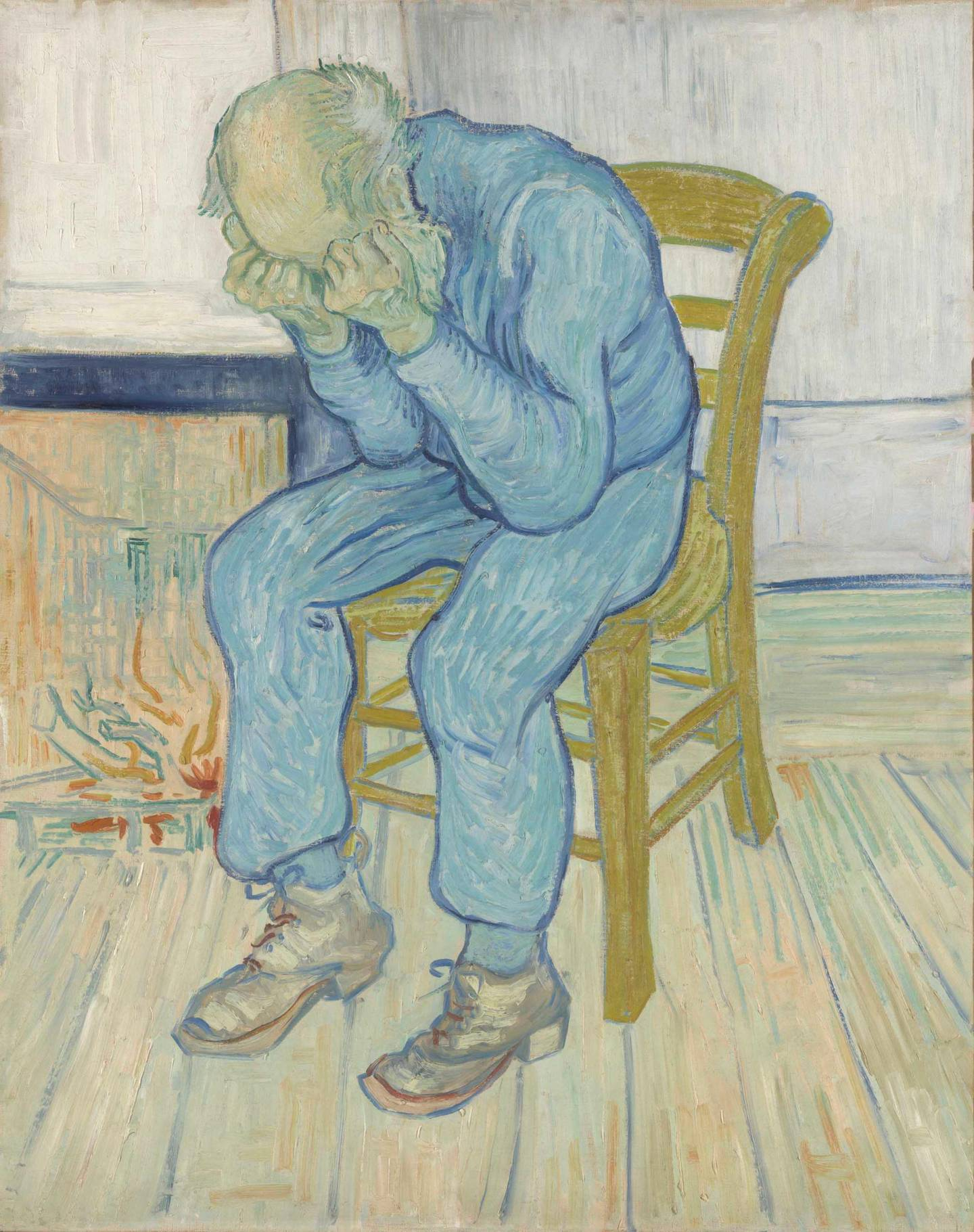 Vincent van Gogh (1853 – 1890) Sorrowing old man ('At Eternity's Gate')  1890 Oil paint on canvas 810 x 650 mm Collection Kröller-Müller Museum, Otterlo