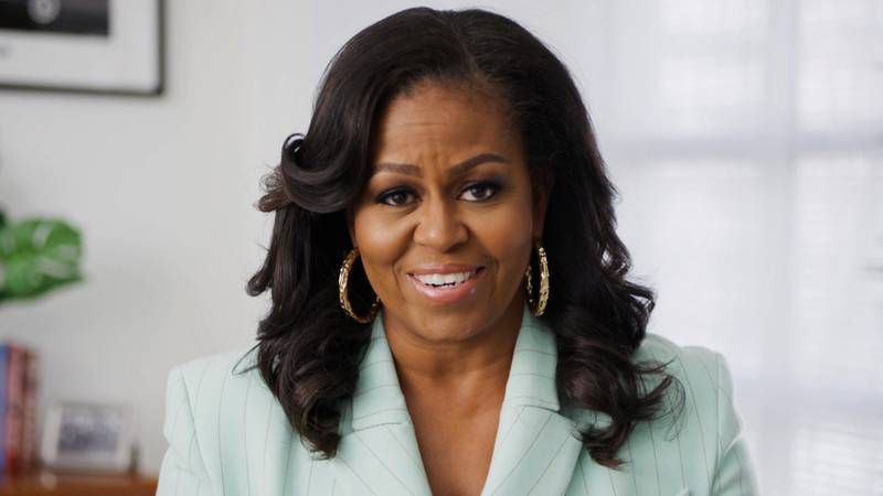 Former First Lady Michelle Obama in this screen grab from the 52nd NAACP Image Awards released in Los Angeles, California, U.S., March 27, 2021. NAACP Handout via REUTERS ATTENTION EDITORS - THIS IMAGE HAS BEEN SUPPLIED BY A THIRD PARTY. NO RESALES. NO ARCHIVES. NO NEW USES AFTER MAY 27, 2021.