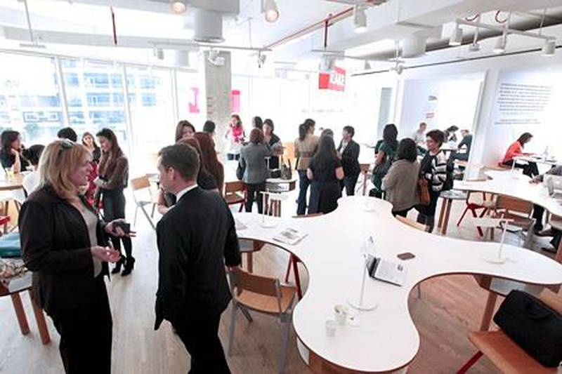 Dubai, United Arab Emirates - January  21, 2013.  Women entrepreneur at a breakfast meeting in Make Business Hub.  ( Jeffrey E Biteng / The National )