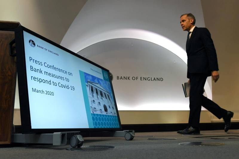 Mark Carney, Governor of the Bank of England (BOE) arrives to a news conference at Bank Of England in London, Britain March 11, 2020. Peter Summers/Pool via REUTERS