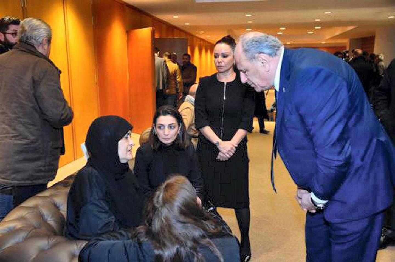 Minister Jamal Jarrah Presents his Condolences to the Family of the Late Najwa Kassem. Courtesy Dalati & Nohra