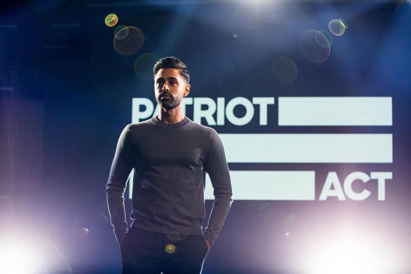 Hasan Minhaj in Patriot Act with Hasan Minhaj. Cara Howe/Netflix