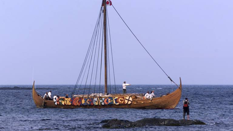 An image that illustrates this article Vikings arrived in North America 1,000 years ago, scientists say