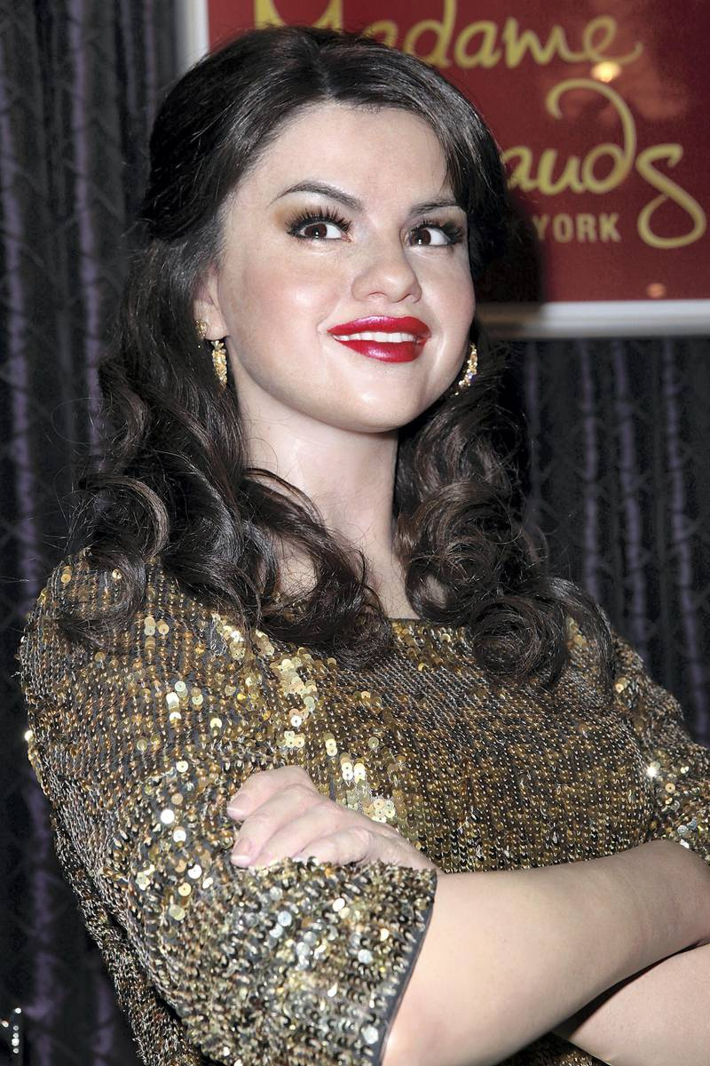NEW YORK, NY - NOVEMBER 17:  Wax figure of Selena Gomez arrives at the 2011 holiday scene unveiling at Madame Tussauds on November 17, 2011 in New York City.  (Photo by Robin Marchant/FilmMagic)