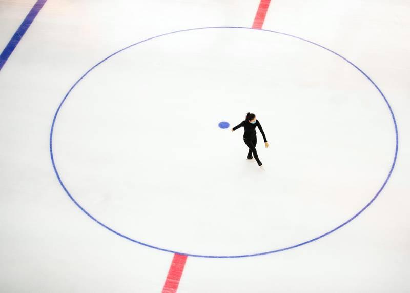 DUBAI, UNITED ARAB EMIRATES. 11 JUNE 2020. Dubai Mall's Ice Rink.(Photo: Reem Mohammed/The National)Reporter:Section:
