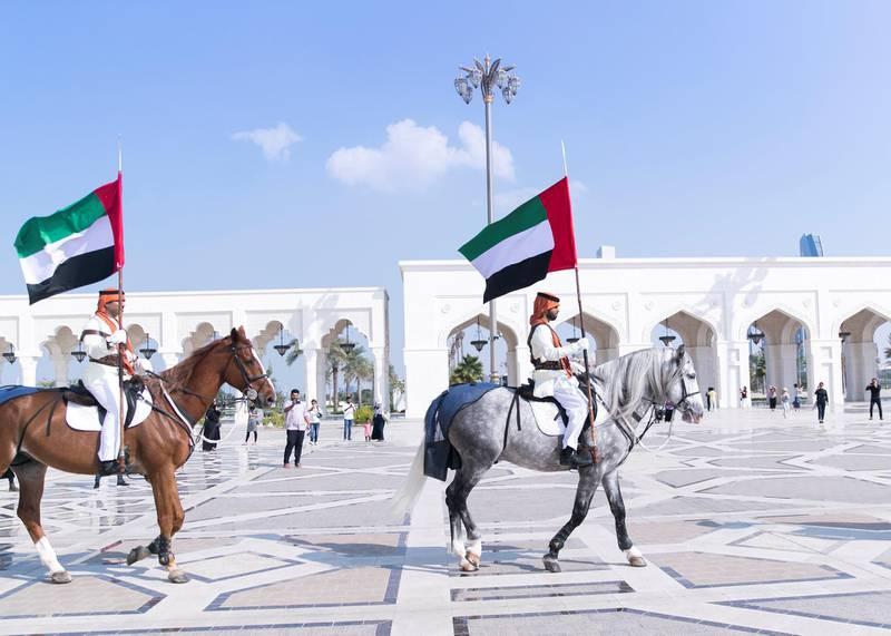 ABU DHABI, UNITED ARAB EMIRATES. 2 DECEMBER 2019. Khayyala performance at UAE's National Day celebrations at Qasr Al Watan.(Photo: Reem Mohammed/The National)Reporter:Section:
