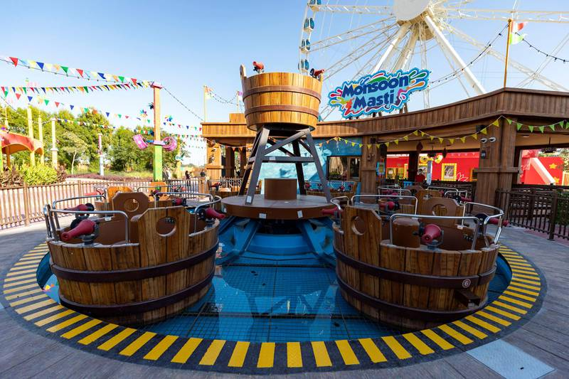 Dubai, United Arab Emirates - Reporter: N/A. News. Entertainment. Bollywood Parks is reopening to the public tomorrow with nine new rides. New ride Monsoon Masti. Dubai. Wednesday, January 20th, 2021. Chris Whiteoak / The National
