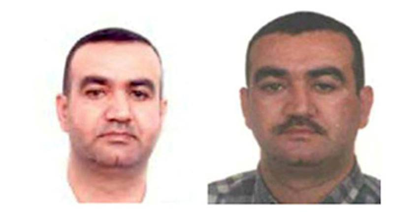 FILE PHOTO: A combination picture of Salim Jamil Ayyash, one of four men wanted for the assassination of Lebanon's former Prime Minister Rafik al-Hariri, is shown in this undated handout picture released at the Special Tribunal for Lebanon website July 29, 2011. The U.N.-backed Lebanon tribunal released on July 29, 2011, the names, photographs and details of four men wanted for the assassination of statesman Rafik al-Hariri in a bid to speed up their arrest.  REUTERS/Special Tribunal for Lebanon/Handout (LEBANON - Tags: POLITICS CIVIL UNREST) FOR EDITORIAL USE ONLY. NOT FOR SALE FOR MARKETING OR ADVERTISING CAMPAIGNS/File Photo/File Photo