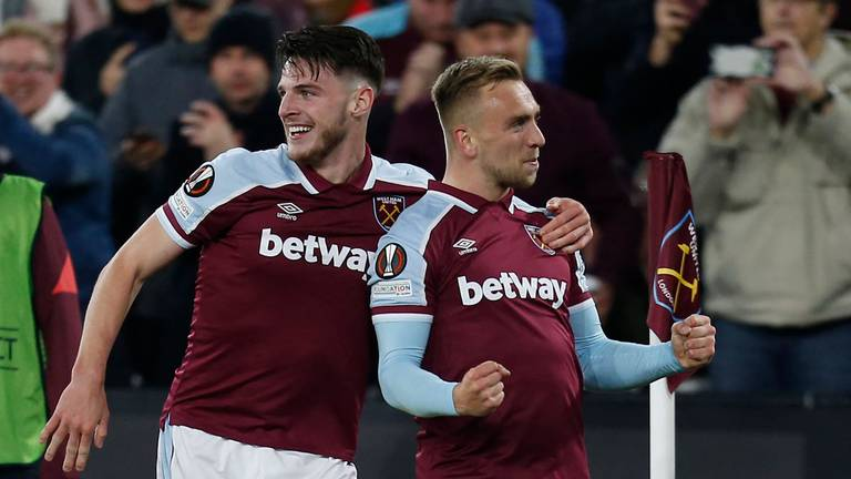 An image that illustrates this article West Ham ratings v Genk: Cresswell 8,  Rice 8, Bowen 7
