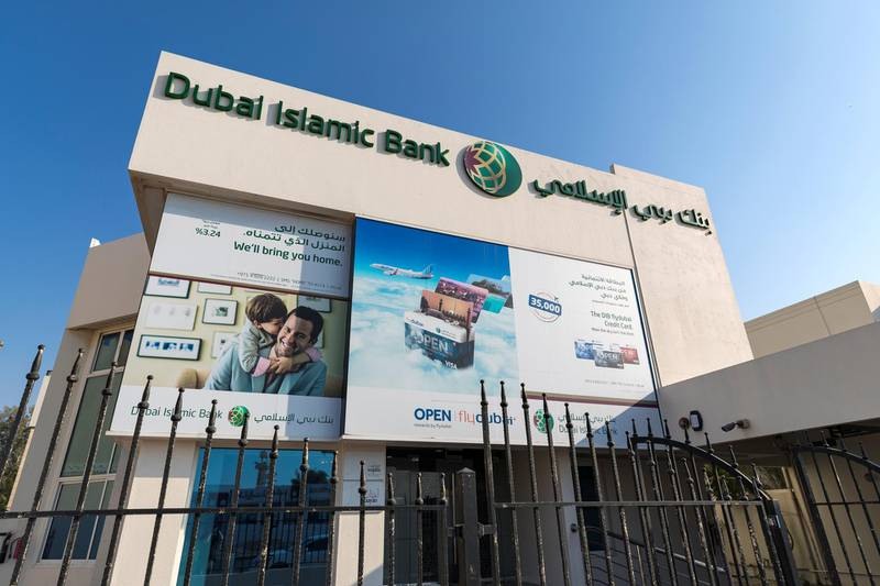 Dubai, United Arab Emirates - February 8th, 2018: General Views of Dubai Islamic Bank. Thursday, February 8th, 2018. Jumeirah Beach Road, Dubai. Chris Whiteoak / The National