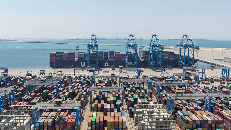 An image that illustrates this article Abu Dhabi Ports Group's first-half revenue surges 21% in 2021