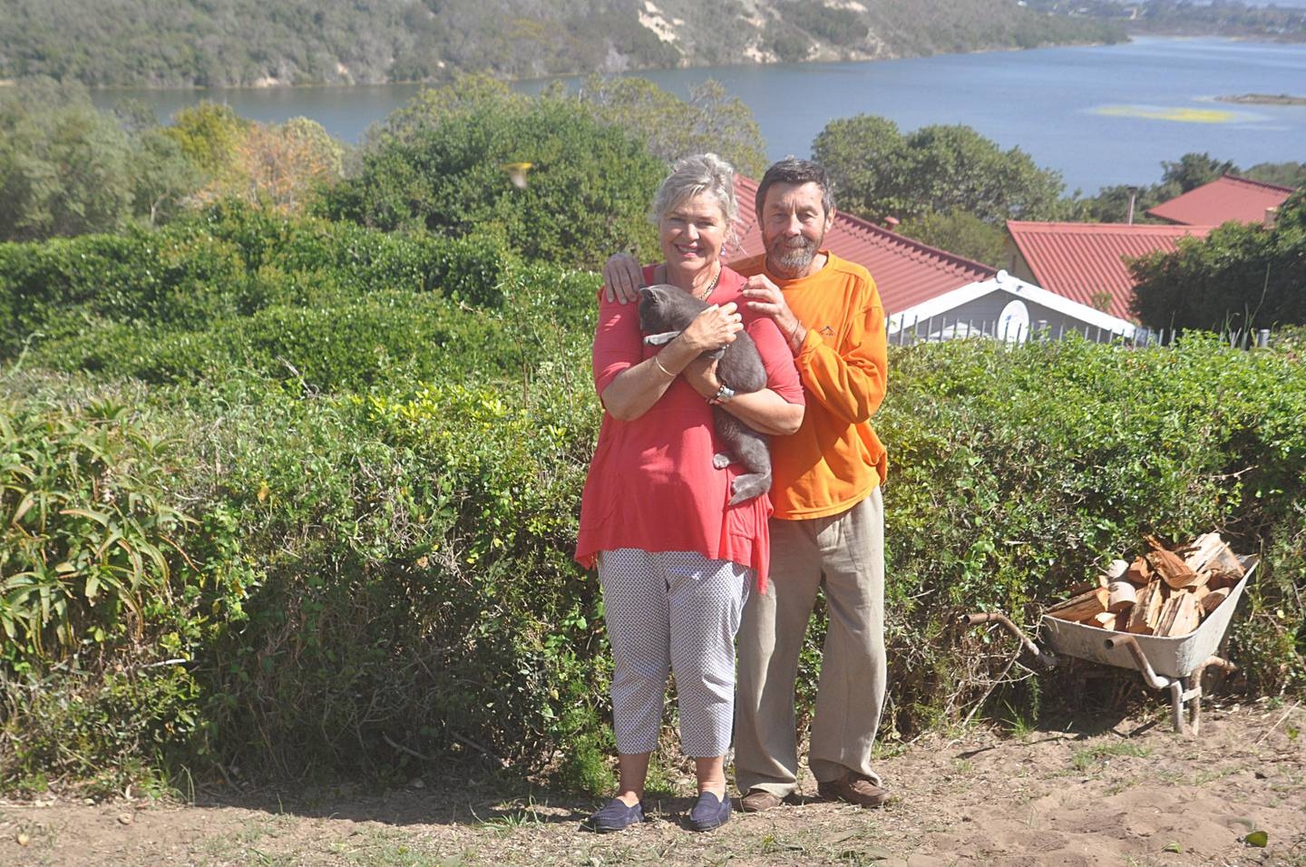 South African couple Nick and Cheryl Liepner for fire story for business. (Photo courtesy-Gavin du Venage)