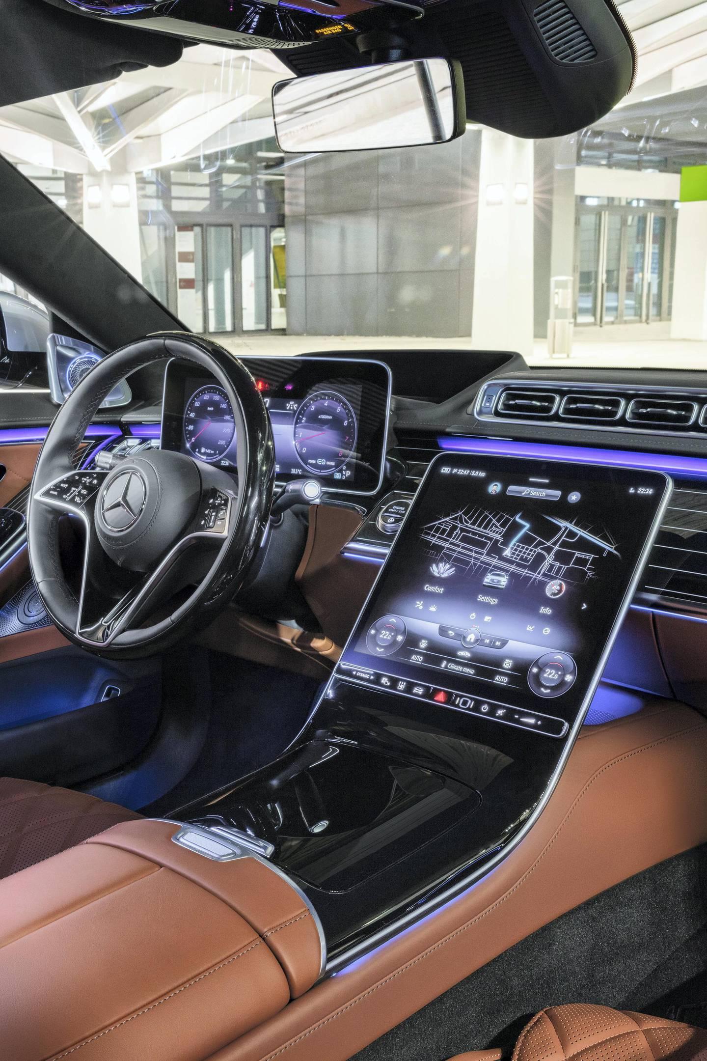 Mercedes-Benz S-Klasse, 2020, Outdoor, Interieur: Leder Nappa Sienabraun // Mercedes-Benz S-Class, 2020, outdoor, interior: leather siena brown
