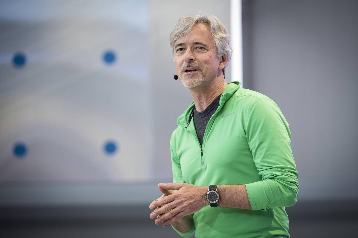 John Krafcik, chief executive officer of Waymo LLC, speaks during the Google I/O Developers Conference in Mountain View, California, U.S., on Tuesday, May 8, 2018. The pitch at this year's Alphabet Inc. Google event will look beyond smartphones to focus on the company's cloud-computing, mapping and artificial intelligence software, according to the program's itinerary and a person familiar with the plans. Photographer: David Paul Morris/Bloomberg
