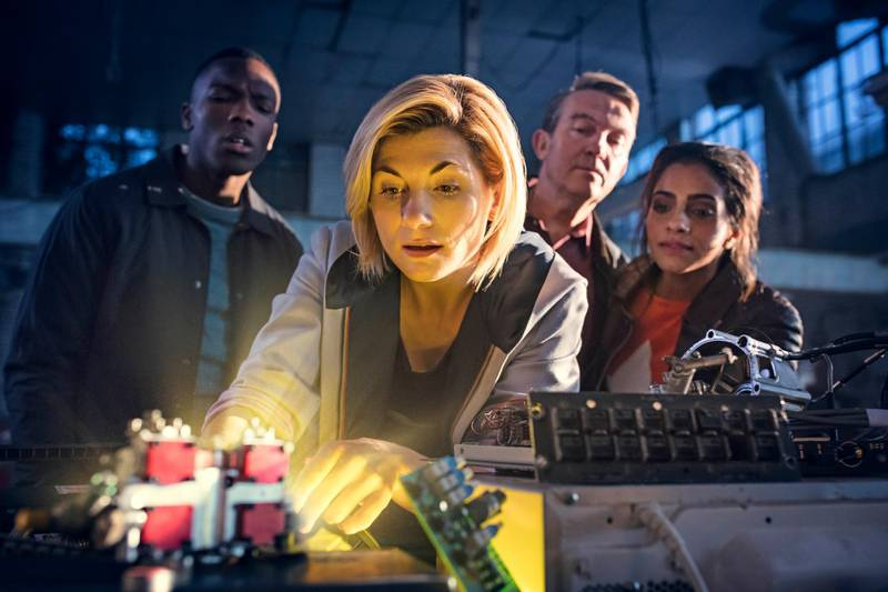 Picture Shows: Ryan Sinclair (TOSIN COLE), The Doctor (JODIE WHITTAKER), Graham O'Brien (BRADLEY WALSH), Yasmin Khan (MANDIP GILL) in Doctor Who S11. Courtesy BBC / BBC Studios