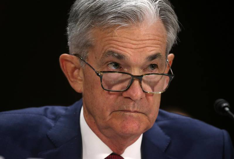"""Federal Reserve Board Chairman Jerome Powell testifies before a Senate Banking, Housing and Urban Affairs Committee hearing on the """"Semiannual Monetary Policy Report to Congress"""" on Capitol Hill in Washington DC, U.S., July 11, 2019. REUTERS/Leah Millis"""