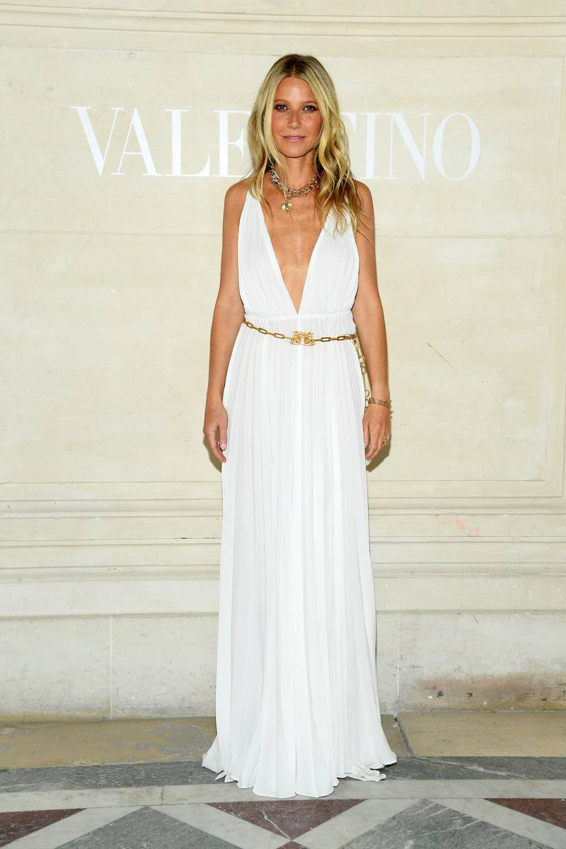 PARIS, FRANCE - JULY 03: Gwyneth Paltrow attends the Valentino Haute Couture Fall/Winter 2019 2020 show as part of Paris Fashion Week on July 03, 2019 in Paris, France. (Photo by Pascal Le Segretain/Getty Images)