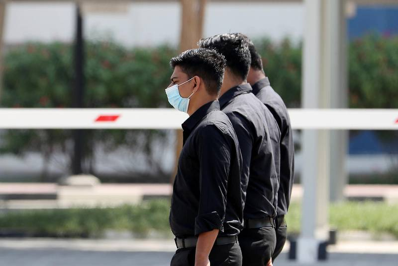 DUBAI, UNITED ARAB EMIRATES , October 3 – 2020 :- People wearing protective face mask as a preventive measure against the spread of coronavirus in Al Karama area in Dubai. (Pawan Singh / The National) For News/Stock/Online.