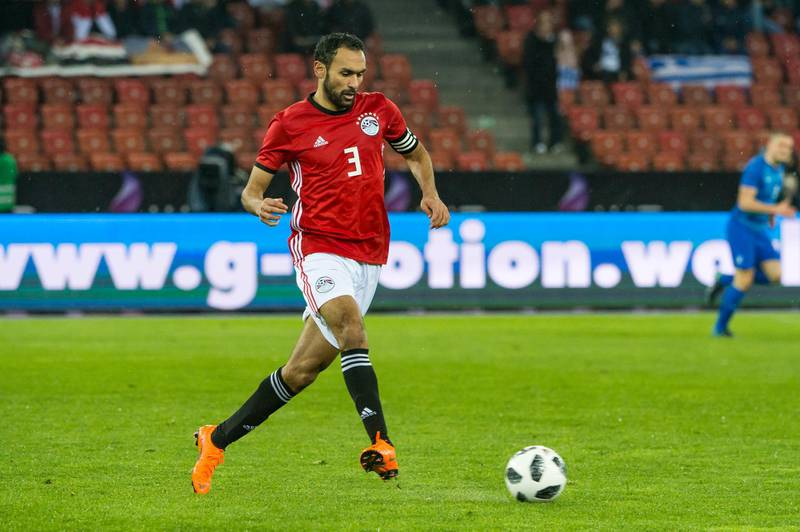 ZURICH, SWITZERLAND - MARCH 27: #3 Ahmed Elmohamady of Egypt in action during the International Friendly between Egypt and Greece at the Letzigrund Stadium on March 27, 2018 in Zurich, Switzerland. (Photo by Robert Hradil/Getty Images)