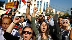 Lebanese protesters denounce foreign interference outside US embassy in Beirut