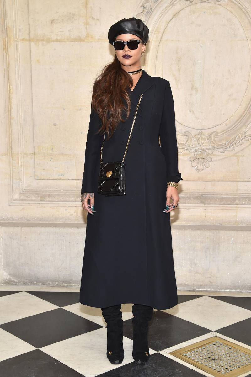 PARIS, FRANCE - MARCH 03:  Rihanna attends the Christian Dior show as part of the Paris Fashion Week Womenswear Fall/Winter 2017/2018 at Musee Rodin on March 3, 2017 in Paris, France.  (Photo by Pascal Le Segretain/Getty Images for Dior)