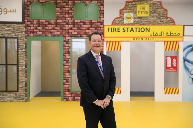 DUBAI, UNITED ARAB EMIRATES - SEPTEMBER 5, 2018.   EMS Founders School in Al Mizhar Principal Nigel Cropley, at the school's Founder's city.  (Photo by Reem Mohammed/The National)  Reporter: Anam Rizvi Section:  NA