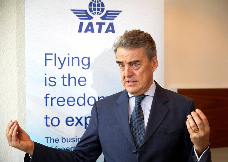 The International Air Transport Association (IATA) Director General and CEO, Alexandre de Juniac attends an interview with Reuters on the consequences of the outbreak of the coronavirus disease (COVID-19) in Geneva, Switzerland, March 13, 2020. REUTERS/Denis Balibouse