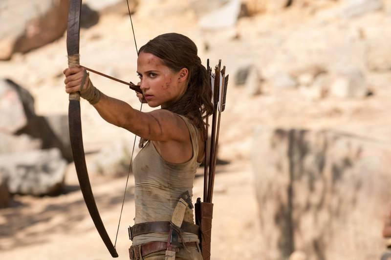 "Alicia Vikander in a scene from ""Tomb Raider."" Ilzek Kitshoff / Warner Bros. Pictures"